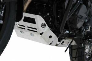 BMW F 650 GS Twin ab BJ08 Motorrad Motorschutzplatte Hepco Becker silber NEU