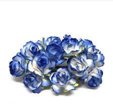 Blue And White Classic Mulberry Paper Roses Flowers Crafts Card Making Cr017