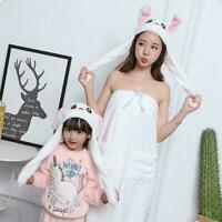 Funny Rabbit Bunny Ear Moving Hat Airbag Cap Soft Plush Hats Gift Lovely To D5T2