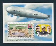 Madagaskar, Block Luftschiff Graf Zeppelin, postfrisch   ( MO3)