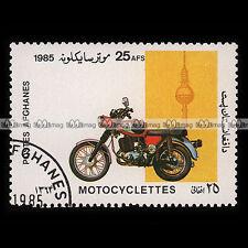★ MZ 250 1985 ★ AFGHANISTAN Timbre Poste Moto Motorrad Motociclo #227