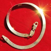 "Fortunoff 14k yellow gold herringbone bracelet Italian 7.18"" link chain 2.5gr"