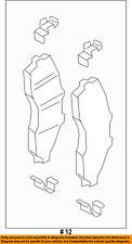 FORD OEM 2017 F-450 Super Duty Brake-Front Pads HC3Z2001B