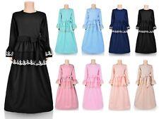 Girls Modest Dress - Abaya - Ages -  5, 6, 7, 8, 9, 10, 11, 12, 13, 14, 15, 16
