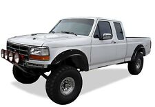 Paintable Black 92-97 Ford F150 F250 F350 Pocket Rivet Fender Flares Smooth