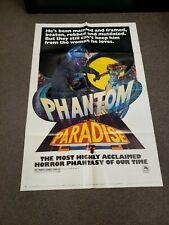 PHANTOM OF THE PARADISE 1974 ORIGINAL 27X41 MOVIE POSTER + 3 LOBBY CARDS + PRESS