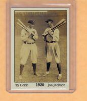 Ty Cobb & Shoeless Joe Jackson '20, Monarch Corona Immortals #1, nm-mint cond.