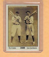 Ty Cobb & Shoeless Joe Jackson 1920, Monarch Corona Immortals #1, nm-mint cond.