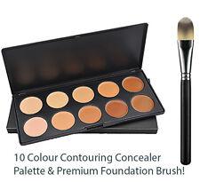LOVM Professional 10 Color Contour Concealer Palette & Foundation Brush by LOVM