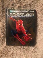 Spider-Man 1 2 3 Limited Edition 4K Ultra HD/Blu-ray/Digital New Sealed