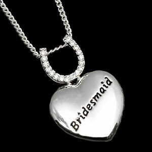 Equilibrium Wedding Thank You Jewellery Gift - Bridesmaid Heart Necklace