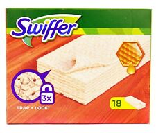 SWIFFER SWEEPER DRY WOODEN FLOOR MOPING CLEANING DUST HAIR WITH BEEWAX 18 REFILL
