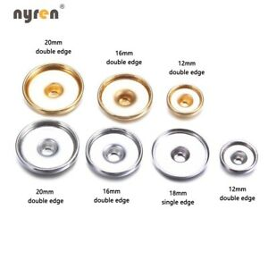 Multi Styles Snap Charms Snap Base Accessories For 12/18mm DIY Snap Jewelry