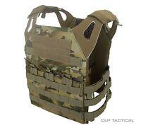 DLP Tactical WRAITH JPC MOLLE plate carrier vest in Digital Woodland