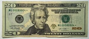 1st Run Very Low 2013 $20 Star Note MG00089904* from Chicago District