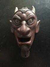 Devil Cast Iron Beer Bottle Opener Bbq Patina Finish Vintage Style Red Barron Vg