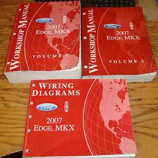 Original 2007 Ford Edge Lincoln MKX Shop Service Manual 1 & 2 + Wiring Diagram
