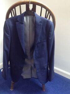 next tailoring suit jacket slim fit 34s 87cms navy /dark blue