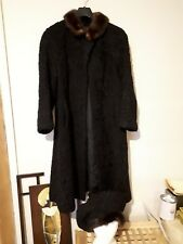 Real Twist Wool And Fur Black vintage Coat And Hat. 50/60s Size 12. No Labels