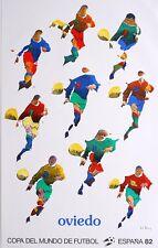 Pol BURY - Affiche lithographie litografia Oviedo Copa del Mundo Espana 1982