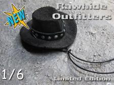 1/6 Black Felt Western Studded Bandit Hat
