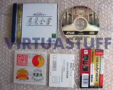 Shin Megami Tensei, Devil Summoner, Akuma Zensho, Saturn, JAP, Sega, completo !!