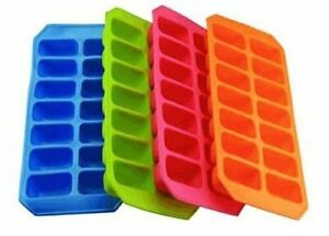 Silicone Soft Splash Ice Cube Tray Flexible With Various Colour by apollo new