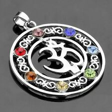 Natural 7 Colorful Stone Beads Reiki Chakra Healing Point Tree Of Life Charm