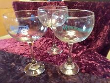 Vintage Collectable Lv Casino Giant Margarita Glasses Set Of Three