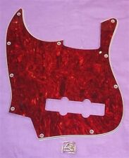 LEFT HANDED SCRATCHPLATE FOR FENDER JAZZ BASS / FAUX TORTOISE