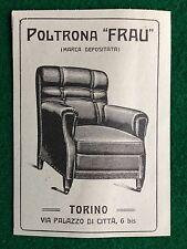 AM53 Pubblicità Advertising Clipping 11x8 cm (1921) POLTRONA FRAU TORINO
