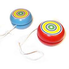 2 Wooden Striped Yoyo Toys - Fun Pocket Money Toys