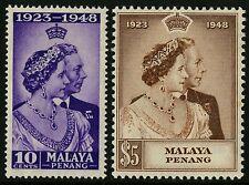Malaya - Penang   1948   Scott #1-2    Mint Lightly Hinged Set
