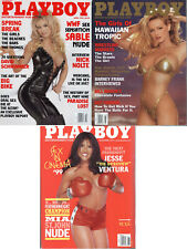 Playboy Lot of 3 from 1999-WWF's Sable and Mia St John Nude, Barney Frank Intvw