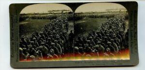 Vintage Stéréogramme Américain Soldats Attraper 1,900 Allemand Prisoners Monde I