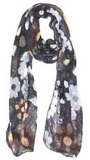 Floral Knit Winter Scarf, Funky Accessories, Ladies Fashion Scarf, Winter Scarf