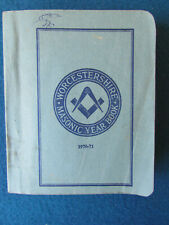 Masonic Book - Province of Worcestershire Year Book - 1970-71