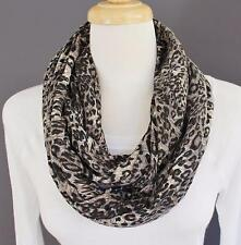Cheetah scarf infinity leopard print soft circle infinity endless loop circular