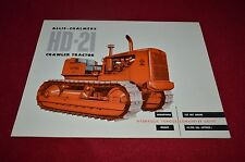 Allis Chalmers HD-21 Crawler Tractor Dealer Brochure YABE11 Ver43