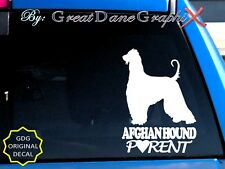 Afghan Hound Parent(S) - Vinyl Decal Sticker / Color Choice - High Quality