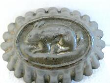 VINTAGE CHARMING BUNNY RABBIT EMBOSSED EASTER TIN FLUTED JELLY JELLO MOLD