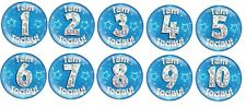 Jumbo Large Birthday Badge Ages 1 2 3 4 5 6 7 8 9 10 Pink Blue Decorations