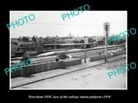 OLD LARGE HISTORIC PHOTO OF PETERSHAM NSW, VIEW OF THE RAILWAY STATION c1930