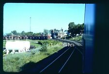 Original Slide D&H Yard Plattsburg, NY View From Coach On Special 7-76