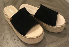 Women's Coolway Straw Open Toe Slip On Platform Sandal Espadrille - Size 9