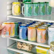 Home Küche Kühlschrank Stapelbar Lagerregal Box Tablett Bierdosen Getränkehalter