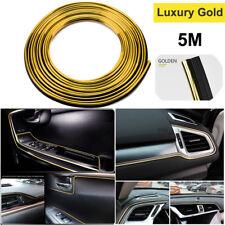 Car Interior Gap Decorative Gold 5M Line Auto Accessories Chrome Shiny Universal