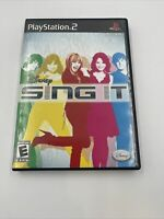Disney Sing It GAME Complete Sony PlayStation 2, 2008 PS2 Tested