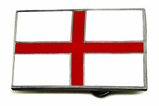 English Flag Belt Buckle England Cross of St George Patriotic Authentic Product