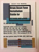 4x Drum Reset Fuse for Samsung CLP 320 CLP 325 N W CLX 3180 3185 CLT-R407 R407
